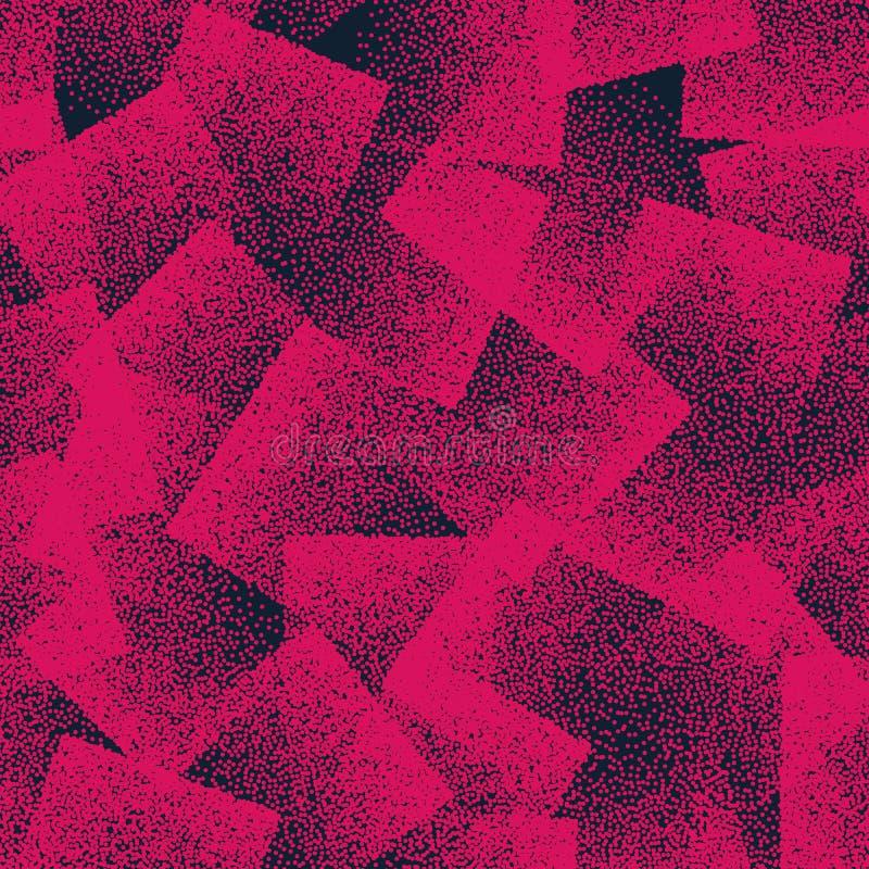 Wektorowy abstrakt Stippled Dziwny Bezszwowy wzór ilustracja wektor