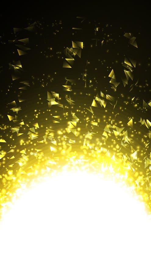 Wektorowy abstrakta światło Jaskrawy jarzyć się na ciemnym tle royalty ilustracja