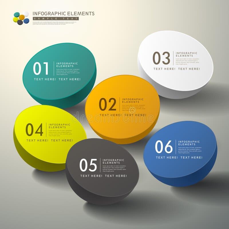 Wektorowy abstrakta 3d infographics ilustracji