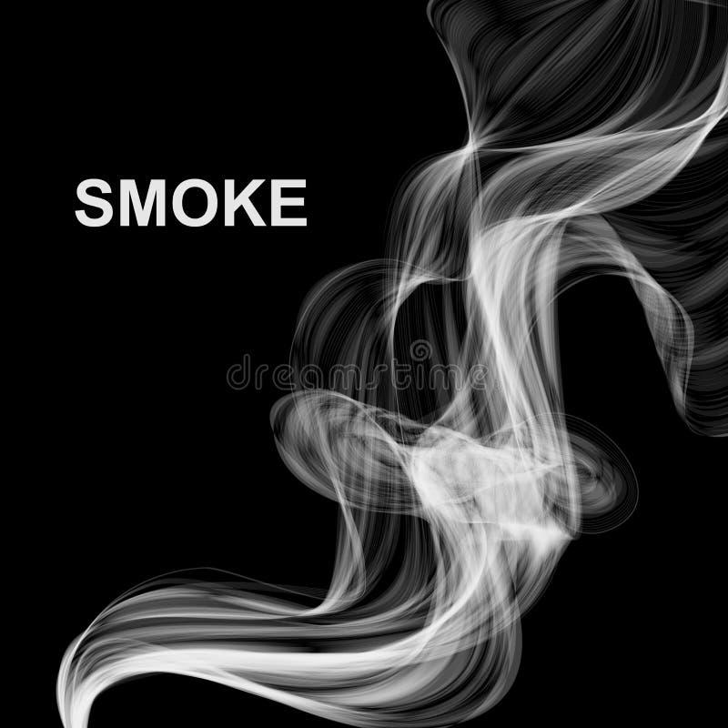 Wektorowy abstrakta dymu tło ilustracji
