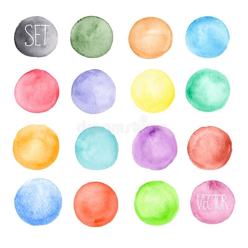 Wektorowy akwarela wzór Round kształtów wzór ilustracji