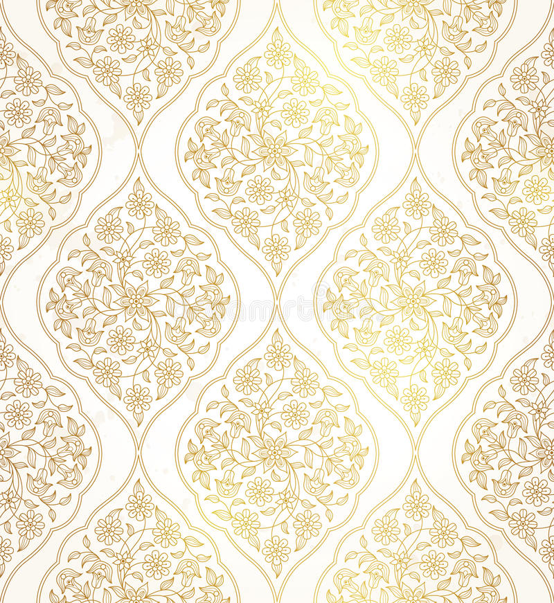 Wektorowy arabski bezszwowy wzór w Wschodnim stylu ilustracja wektor