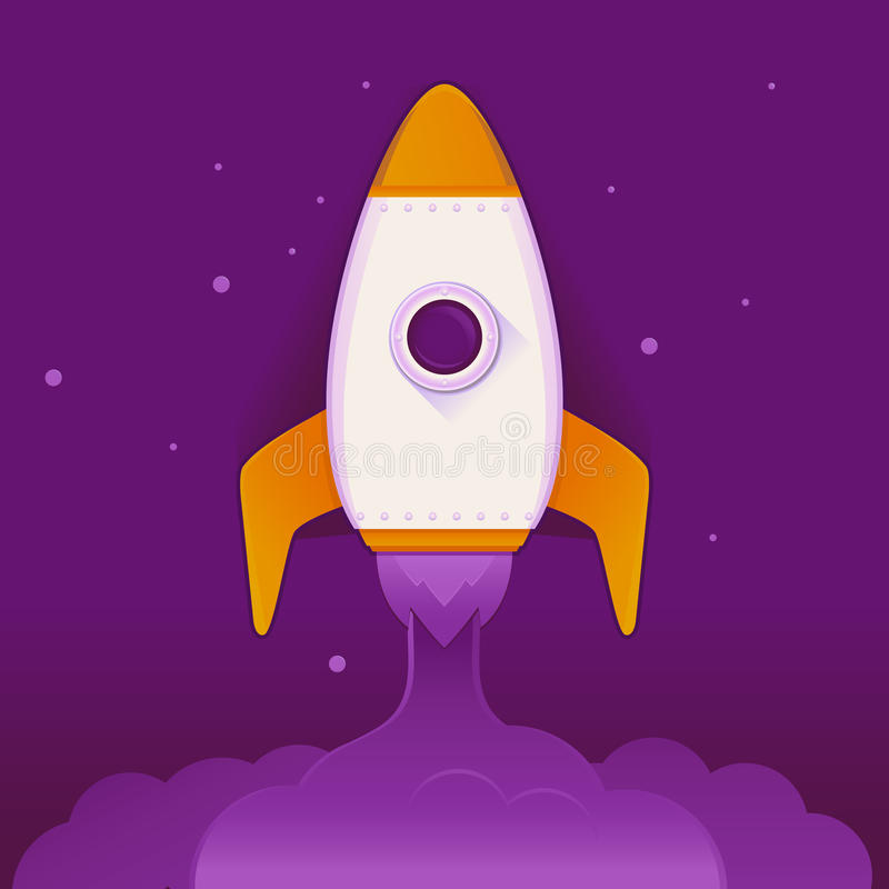Wektorowy astronautyczny statek royalty ilustracja