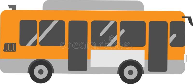 Wektorowy Autobusowy pasażer na Białym tle royalty ilustracja