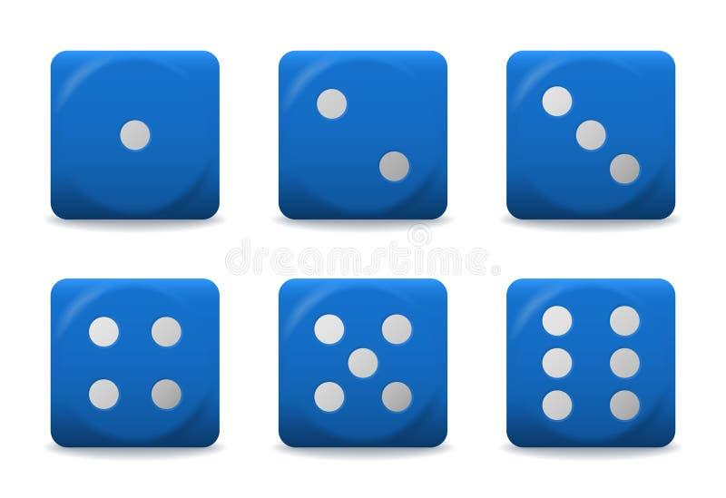 Wektorowy błękit dices ilustracji