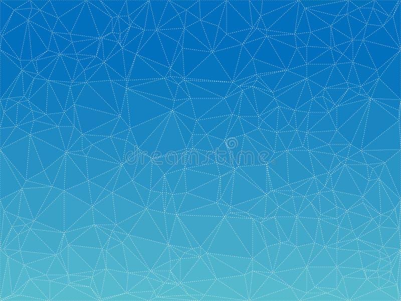 Wektorowy błękitny prezentaci i sieci tło z trójbokami royalty ilustracja