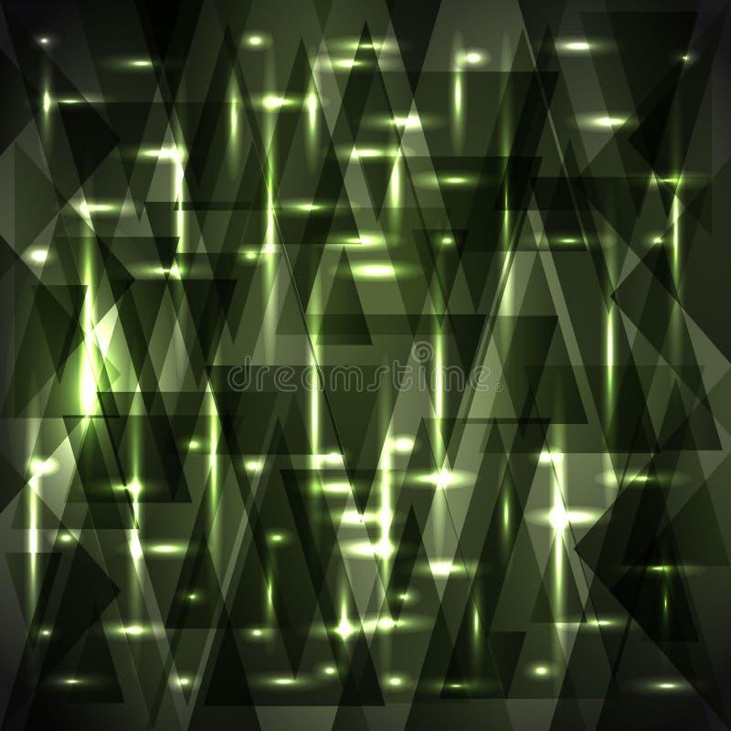 Wektorowy błyszczący delikatny bagno zielonego koloru wzór czerepy i stri royalty ilustracja