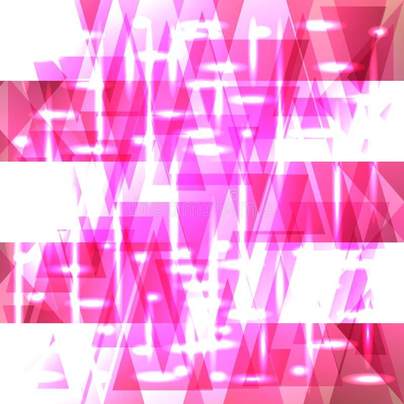 Wektorowy błyszczący koloru flaminga wzór czerepy i paski ilustracja wektor