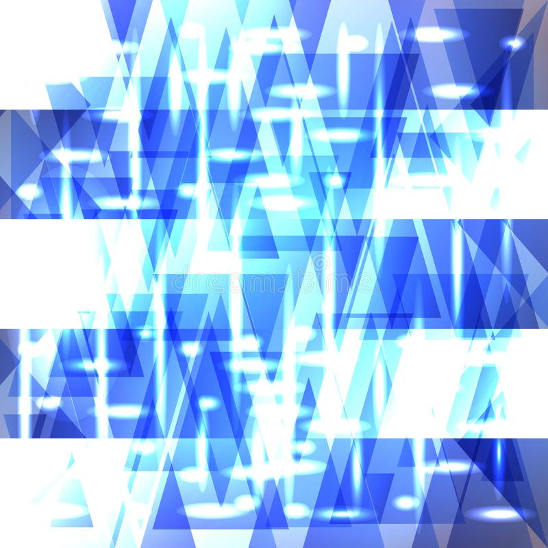 Wektorowy błyszczący nieba błękita wzór czerepy i lampasy royalty ilustracja