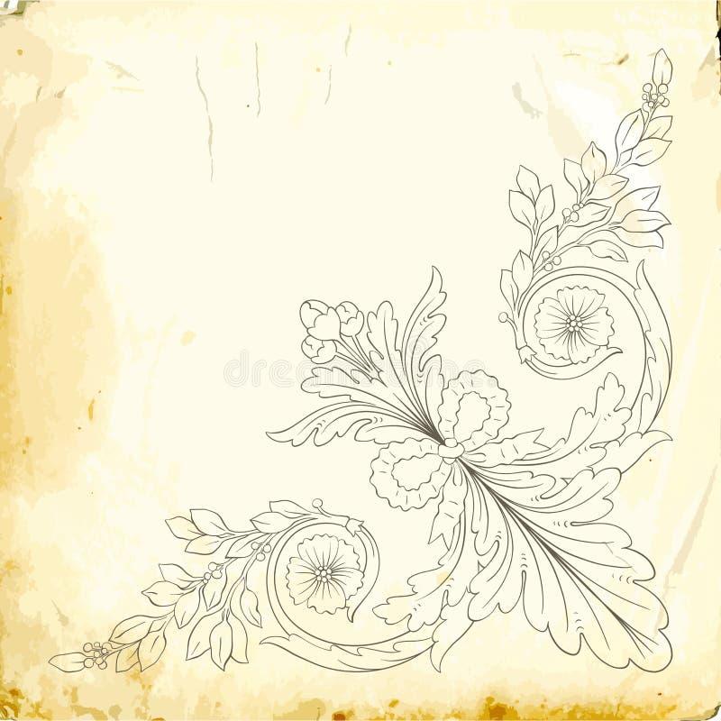 Wektorowy barok roczników elementy dla projekta obrazy royalty free