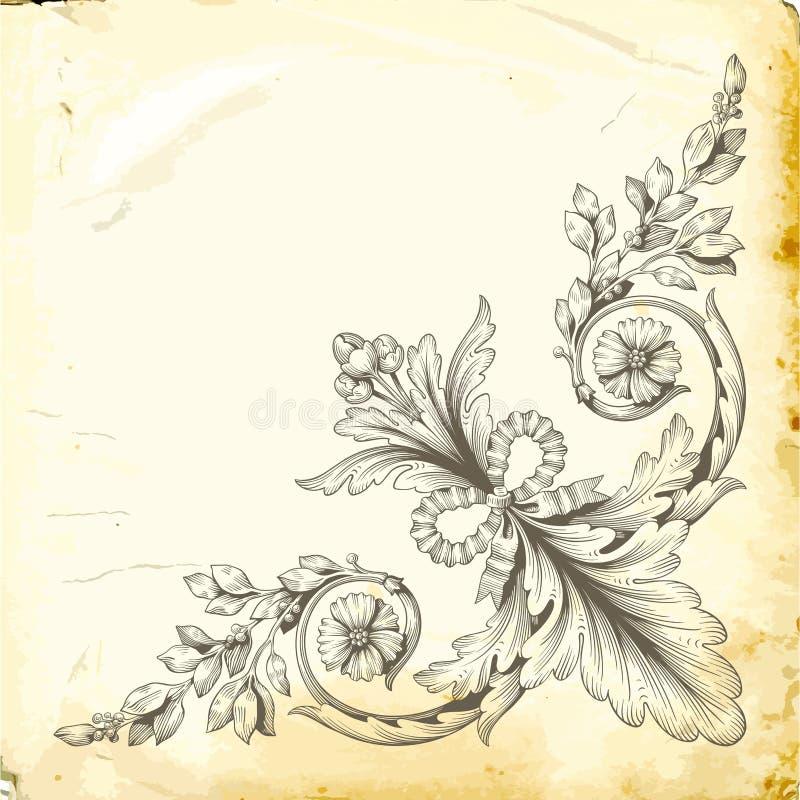 Wektorowy barok roczników elementy dla projekta zdjęcie stock