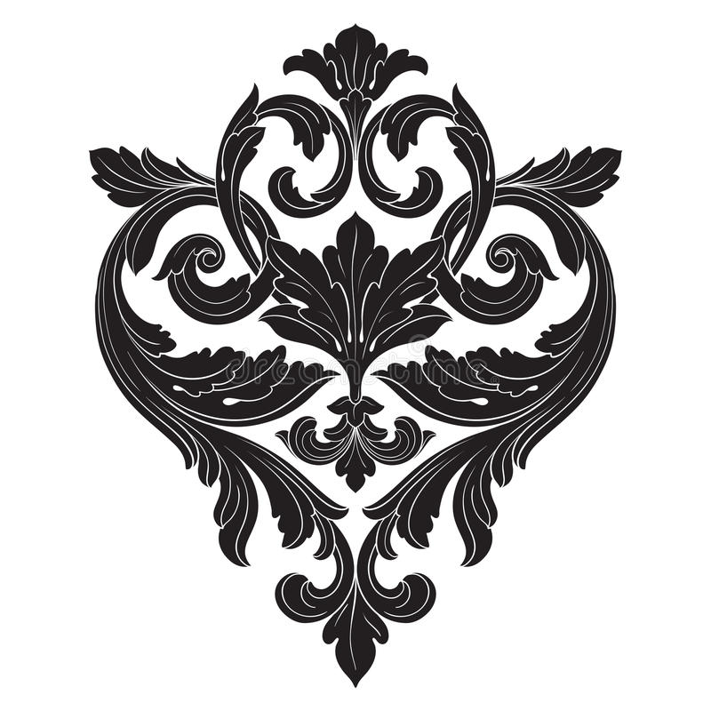 Wektorowy barok roczników elementy dla projekta royalty ilustracja