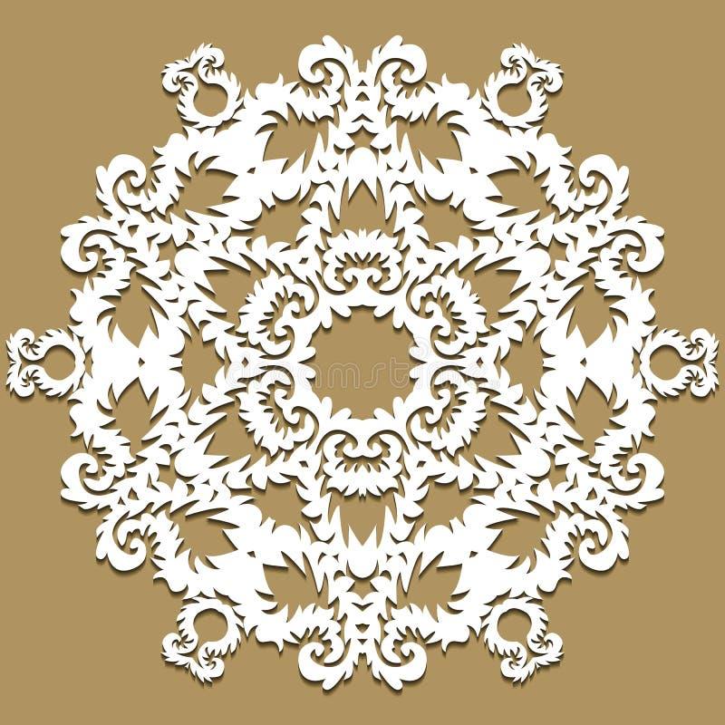 Wektorowy barokowy ornament w wiktoriański stylu Ozdobny element dla projekta Toolkit dla projektanta Tradycyjny kwiecisty wystró royalty ilustracja