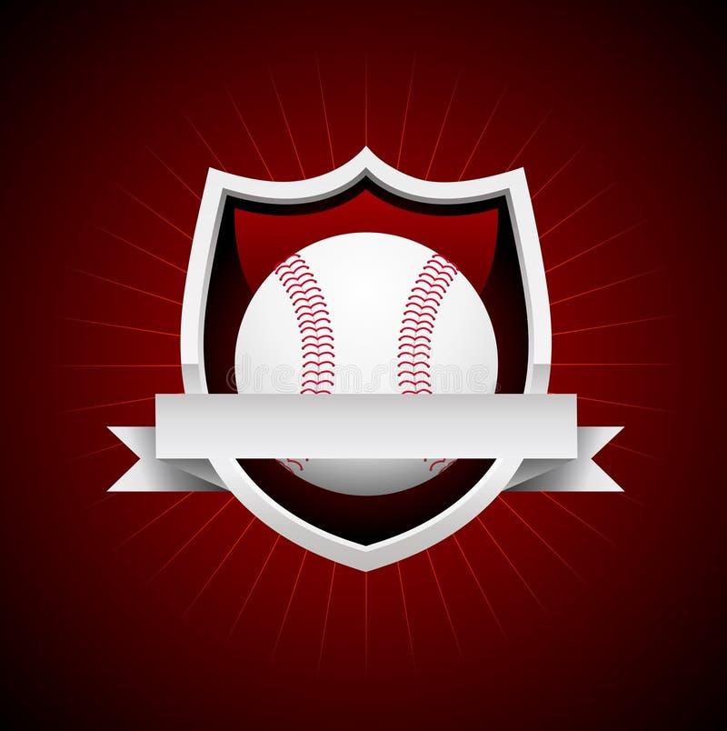 Wektorowy baseballa emblemat ilustracja wektor