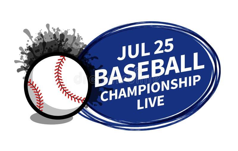 Wektorowy baseballa softballa sporta tablicy wyników światła reflektorów tła miejsce dla odbitkowej tekst reklamy Sztandar, ulotk royalty ilustracja