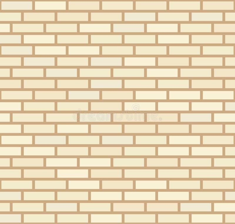 Wektorowy beż i jasnożółty ściany z cegieł tło Starej tekstury miastowy kamieniarstwo Rocznik architektury bloku tapeta fasada re royalty ilustracja