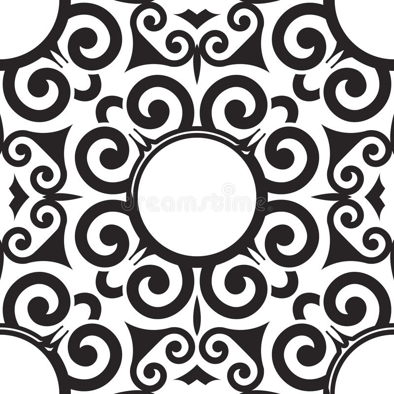 Wektorowy Bezszwowy ślimacznica wzór dla Tekstylnego projekta royalty ilustracja