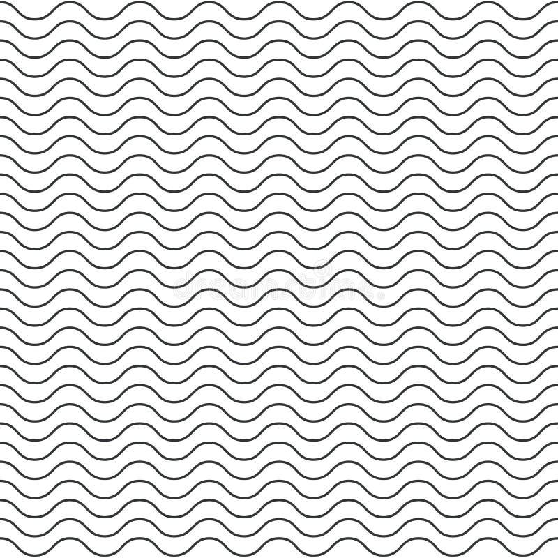 Wektorowy bezszwowy abstrakta wzór, cienka linia macha royalty ilustracja