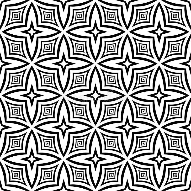 Wektorowy bezszwowy abstrakta wzór czarny i biały tło abstrakcjonistyczna tapeta ilustracja wektor