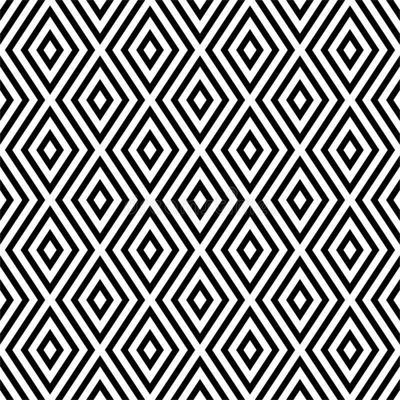 Wektorowy bezszwowy abstrakta wzór czarny i biały tło abstrakcjonistyczna tapeta również zwrócić corel ilustracji wektora ilustracji