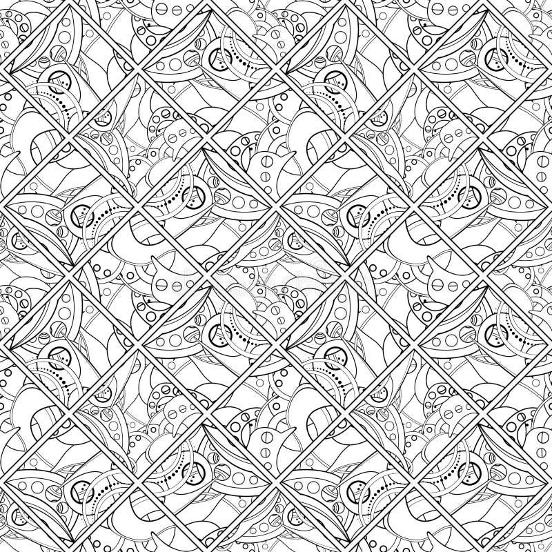 Download Wektorowy Bezszwowy Barwiony Abstrakta Wzór Ilustracja Wektor - Ilustracja złożonej z kędzior, tło: 57661914