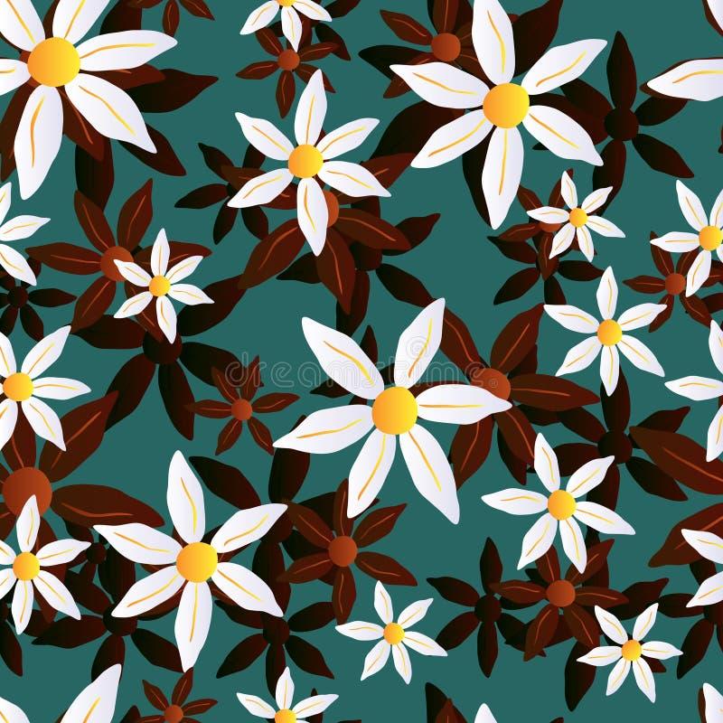 Wektorowy bezszwowy chamomile wzór zdjęcie royalty free