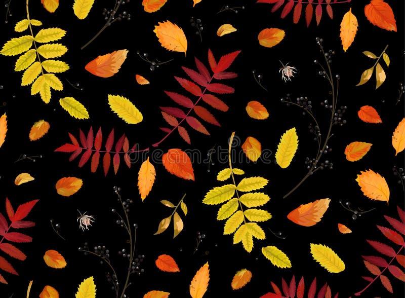 Wektorowy Bezszwowy chodaka tło w akwarela stylu jesieni fal ilustracja wektor