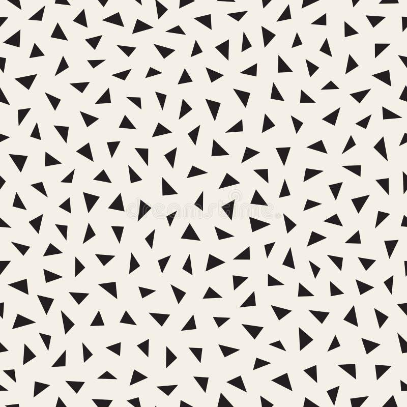Wektorowy Bezszwowy Czarny I Biały bigosu trójboka wzór ilustracja wektor