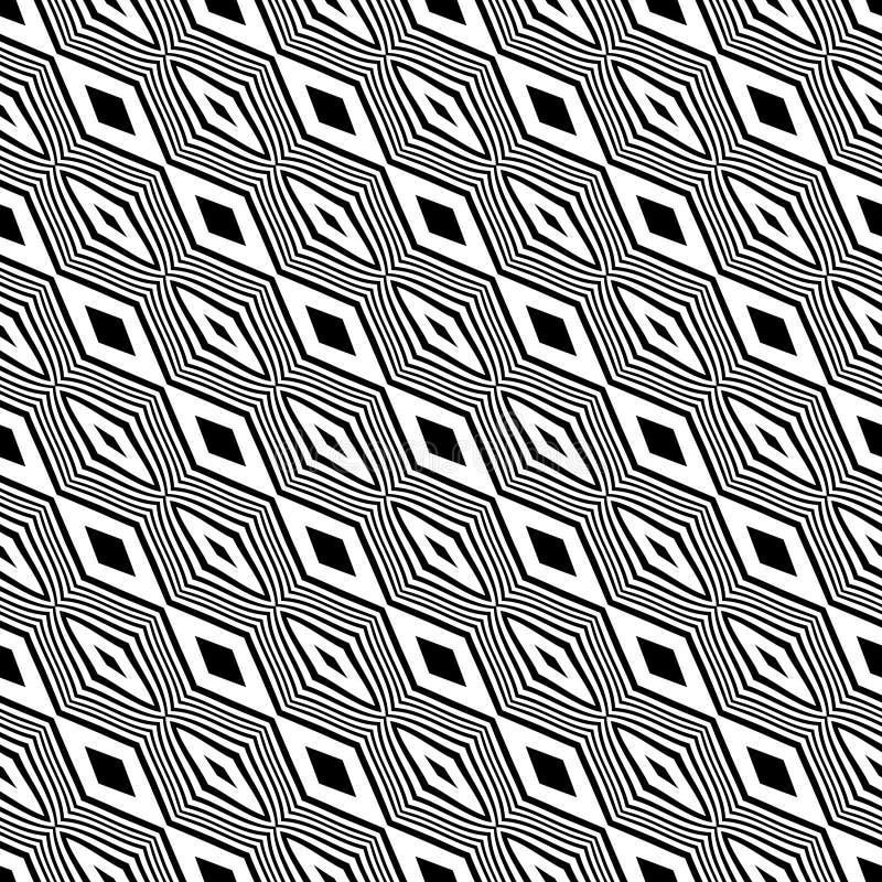Wektorowy bezszwowy diagonalny linia wzór czarny i biały tło abstrakcjonistyczna tapeta również zwrócić corel ilustracji wektora  royalty ilustracja