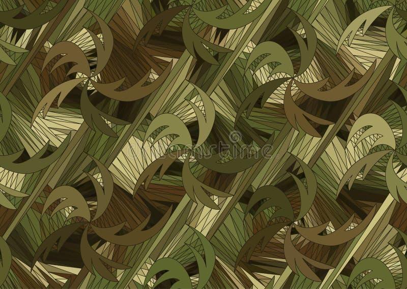 Wektorowy bezszwowy falowy tło patroszone linie ilustracji