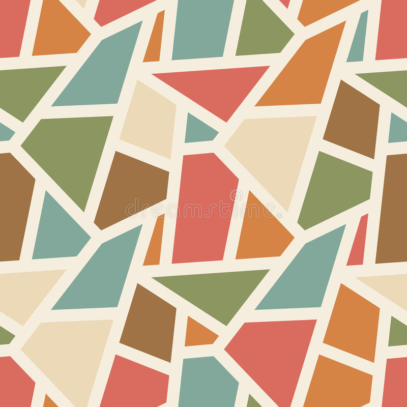 Wektorowy bezszwowy geometryczny wzór - prosty abstrac ilustracja wektor