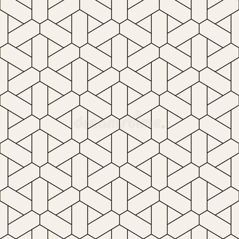 Wektorowy bezszwowy geometryczny wzór Prosty abstrakt wykłada kratownicę Wielostrzałowych elementów elegancki tło ilustracji