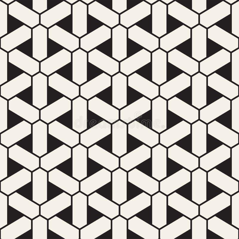 Wektorowy bezszwowy geometryczny wzór Prosty abstrakt wykłada kratownicę Wielostrzałowych elementów elegancki tło ilustracja wektor