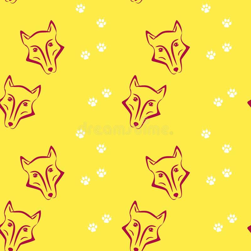 Wektorowy bezszwowy, kolorowy zwierzę domowe wzór z i, ilustracja wektor