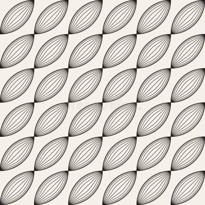 Wektorowy bezszwowy kratownica wzór Nowożytna elegancka tekstura z trellis Wielostrzałowa geometryczna siatka Prosty graficznego  ilustracja wektor