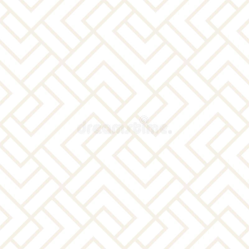 Wektorowy bezszwowy kratownica wzór Nowożytna subtelna tekstura z monochromatycznym trellis Wielostrzałowa geometryczna siatka pr royalty ilustracja