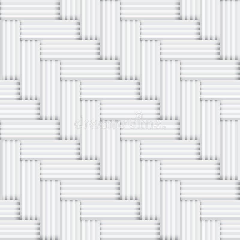 Wektorowy bezszwowy kwadratowy biały i czarny wzór - v royalty ilustracja