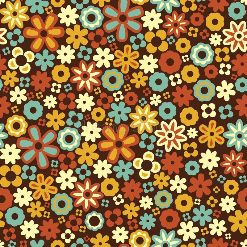 Wektorowy bezszwowy kwiatu wzoru tło ilustracja wektor