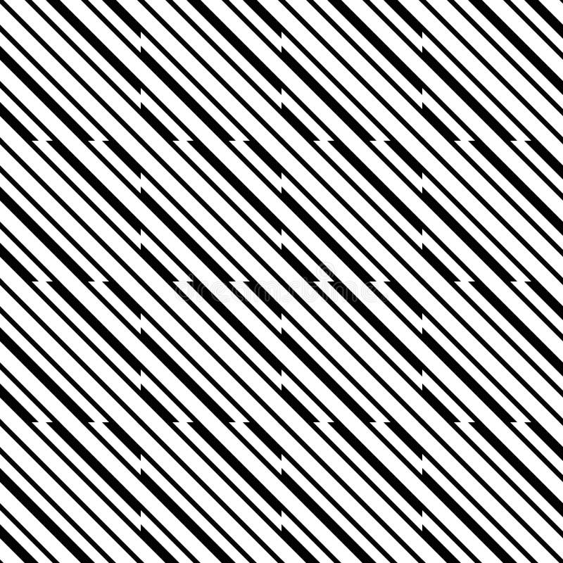 Wektorowy bezszwowy linia wzór czarny i biały tło abstrakcjonistyczna tapeta również zwrócić corel ilustracji wektora ilustracji