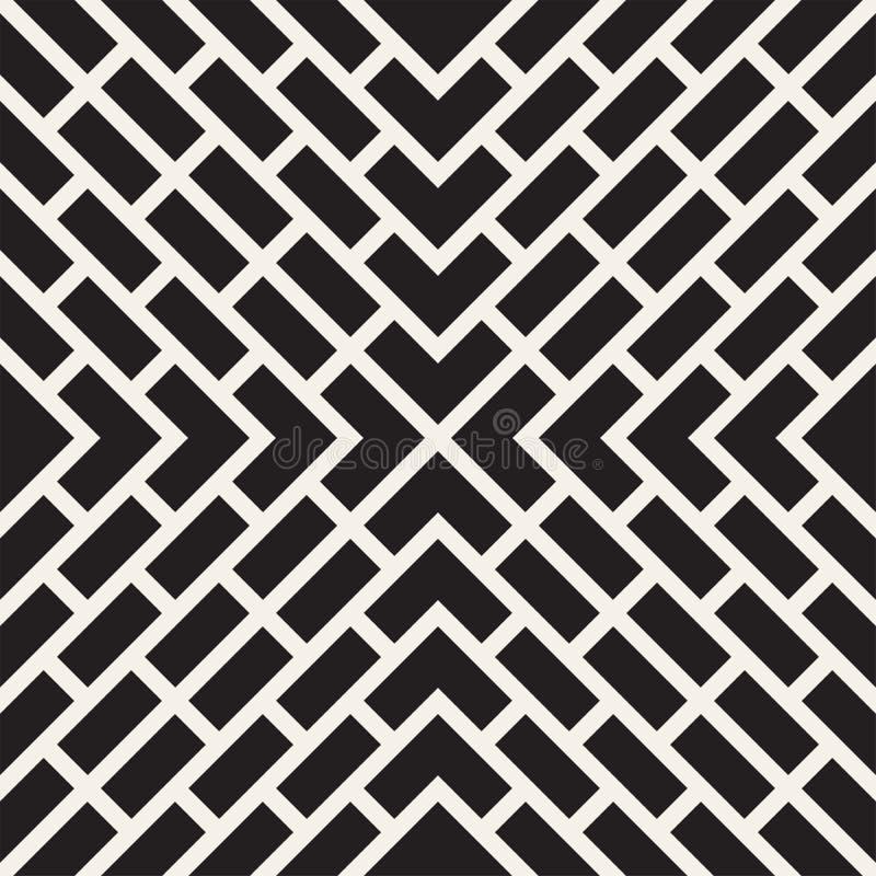 Wektorowy Bezszwowy linia wzór Nowożytna elegancka abstrakcjonistyczna tekstura Wielostrzałowe geometryczne płytki z lampasów ele royalty ilustracja