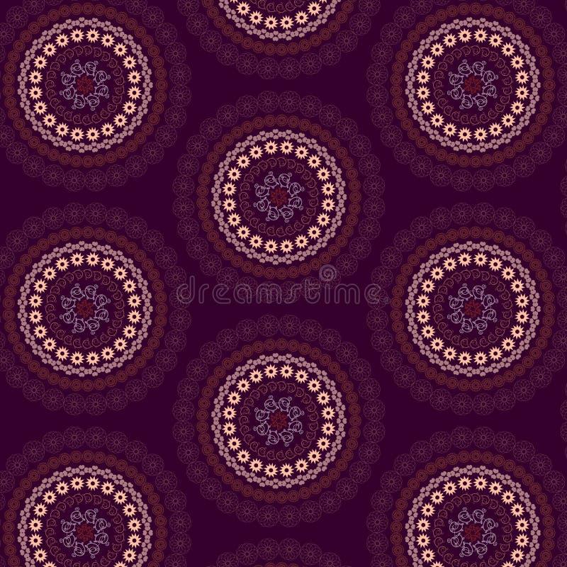 Wektorowy bezszwowy mandala wzór royalty ilustracja