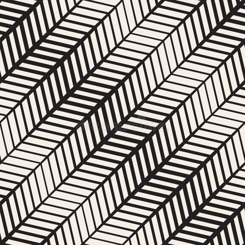Wektorowy Bezszwowy Parquetry bruku Halftone Wykłada Geometrycznego wzór ilustracji