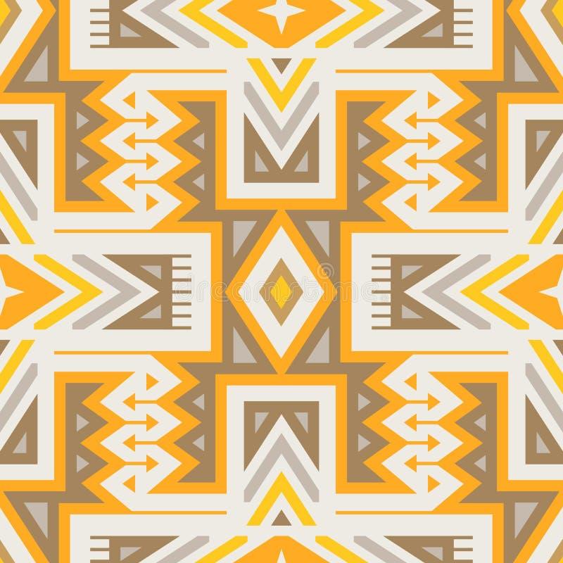 Wektorowy Bezszwowy Plemienny wzór dla Tekstylnego projekta royalty ilustracja