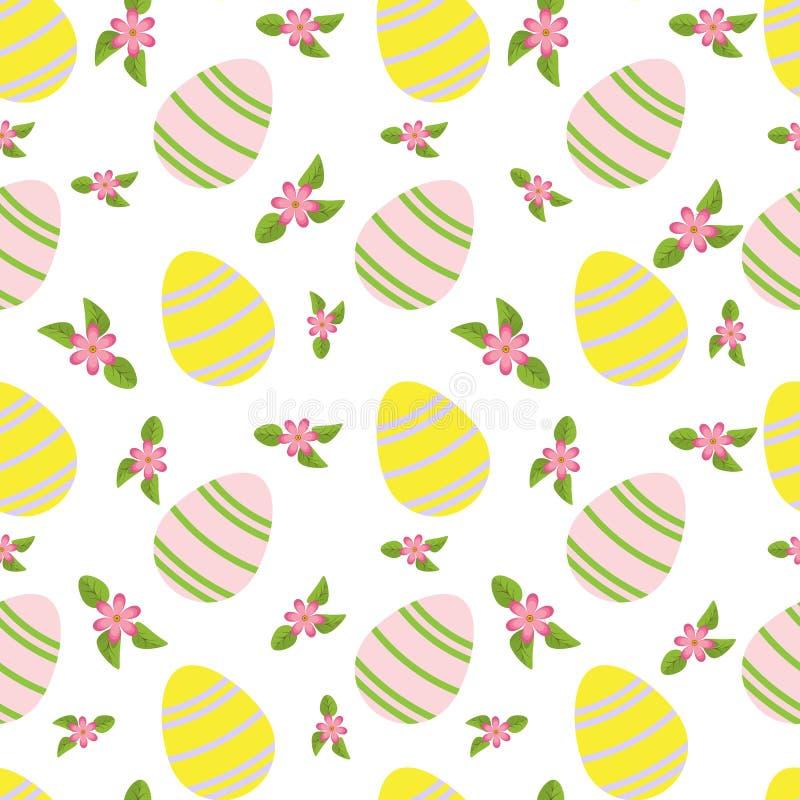 Wektorowy bezszwowy prosty wzór z ornamentacyjnymi jajkami i małym pi ilustracja wektor