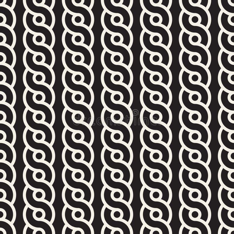 Wektorowy Bezszwowy Przeplata linia wzór Nowożytna elegancka abstrakcjonistyczna tekstura Wielostrzałowe geometryczne płytki ilustracji