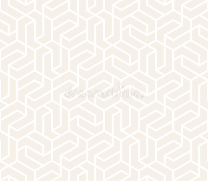 Wektorowy Bezszwowy Subtelny wzór Nowożytna elegancka abstrakcjonistyczna tekstura Wielostrzałowe geometryczne płytki ilustracja wektor
