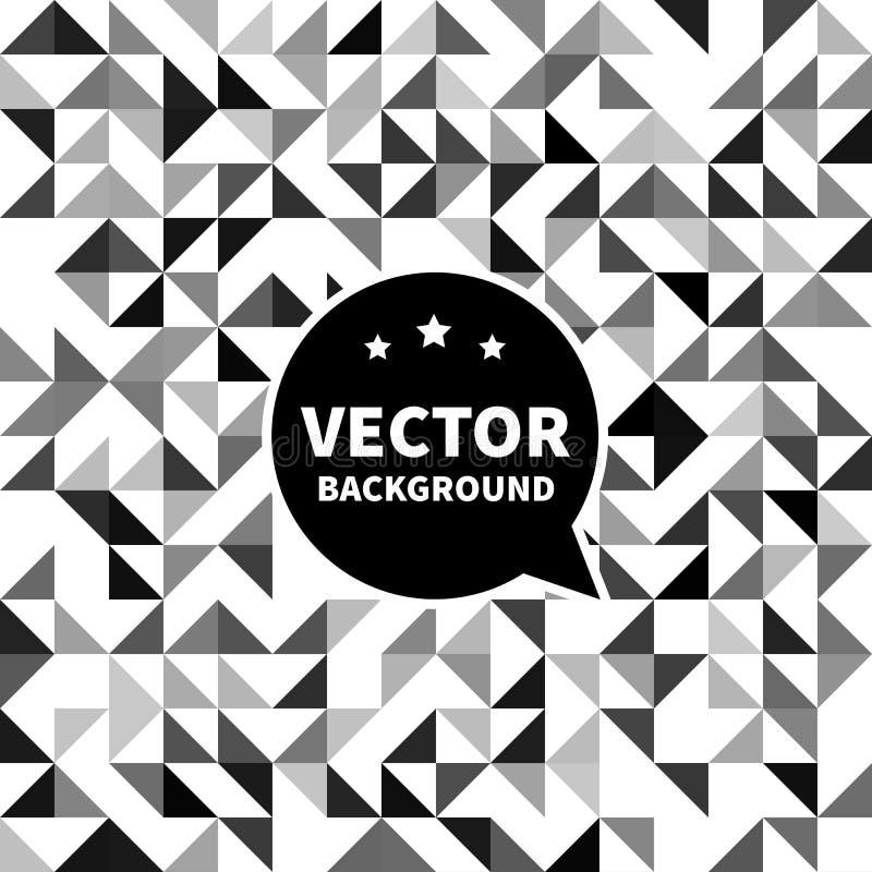 Wektorowy bezszwowy tło wzór, biały czarny trójbok ilustracja wektor
