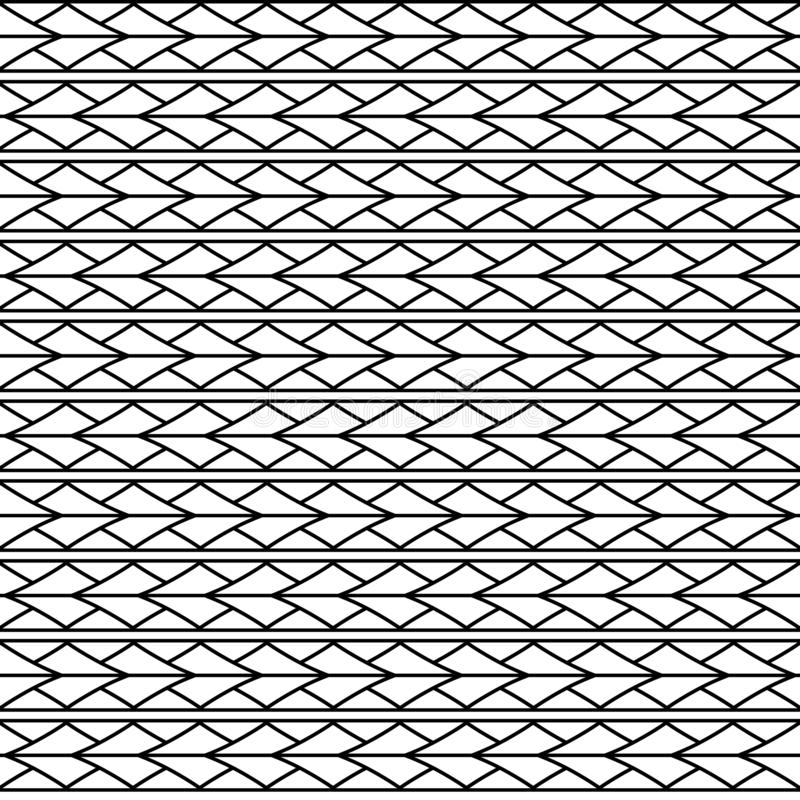 Wektorowy bezszwowy trójboka rhombus wzoru ornament maoryjski, etniczny, Japan styl ilustracji