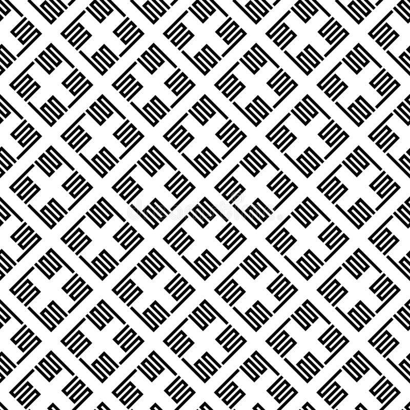 Wektorowy bezszwowy wzór abstrakta kwadrata linia royalty ilustracja