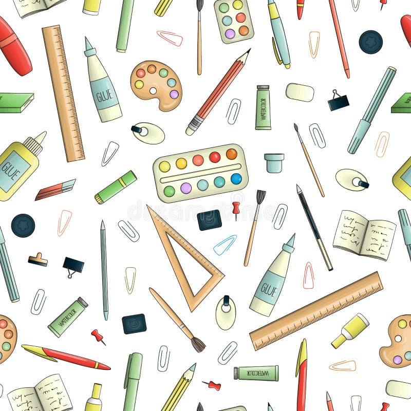 Wektorowy bezszwowy wzór barwiony materiały ilustracja wektor